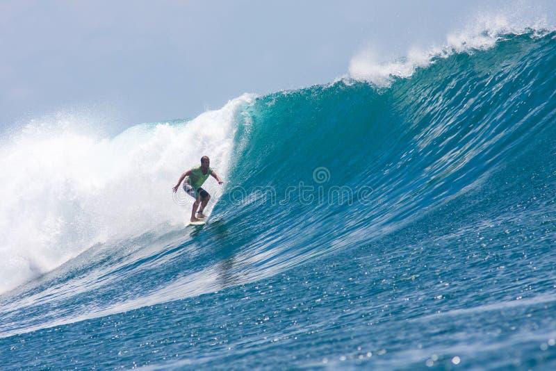 Surfa en våg arkivfoton