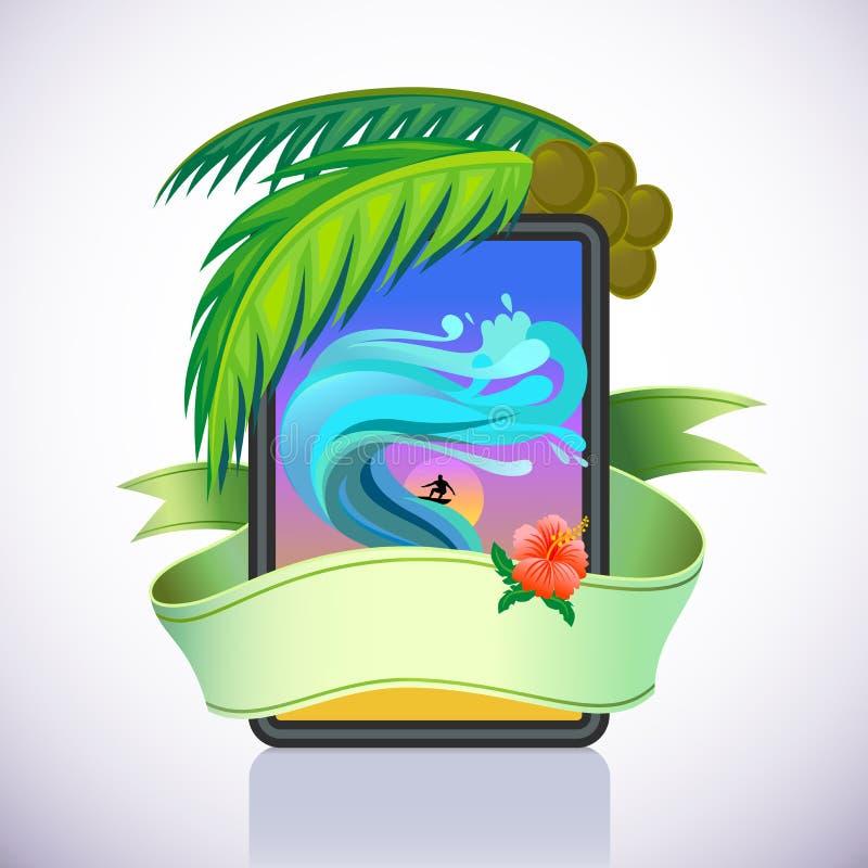 surfa för affärsföretagö som är tropiskt royaltyfri illustrationer
