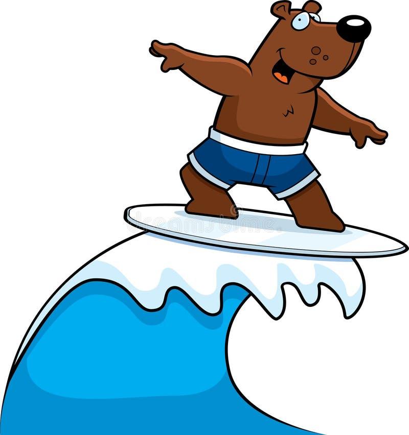 surfa för björn vektor illustrationer