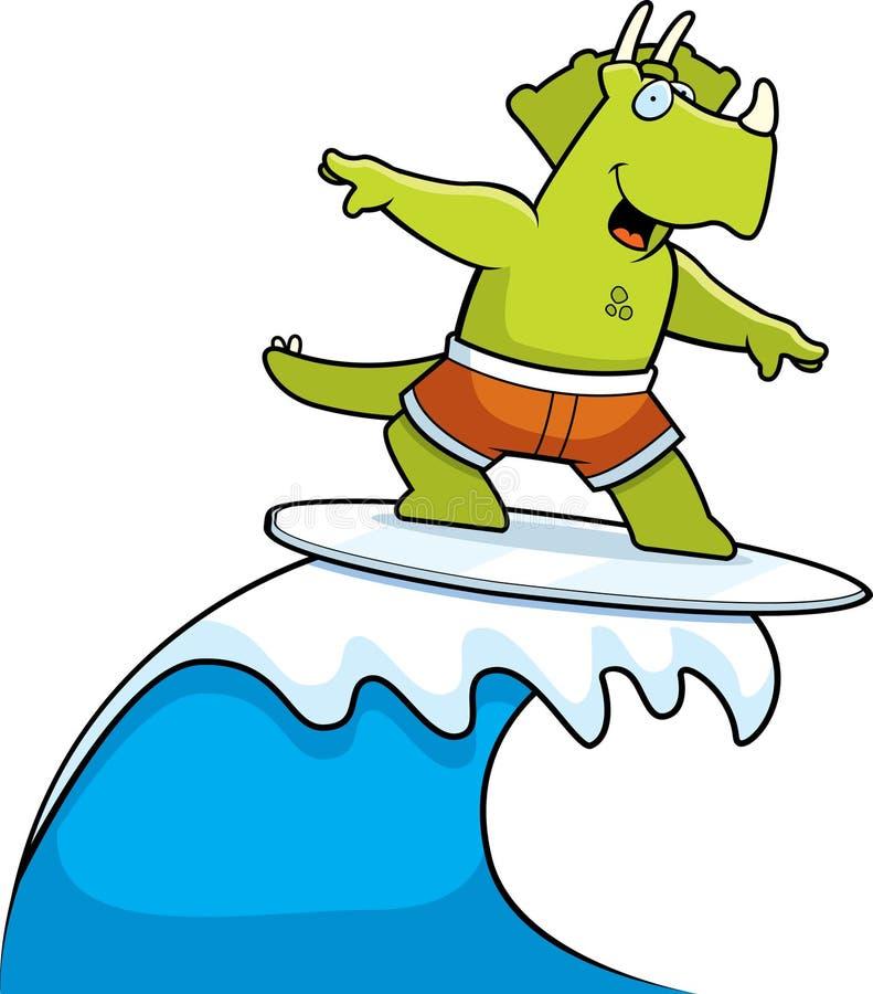 surfa för dinosaur stock illustrationer