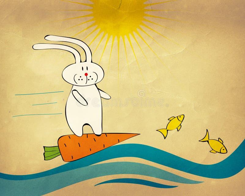 surfa för kaninmorot royaltyfri illustrationer