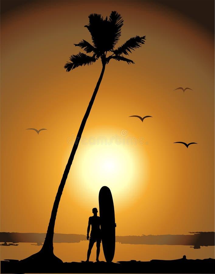 surfa semestrar för sommar vektor illustrationer