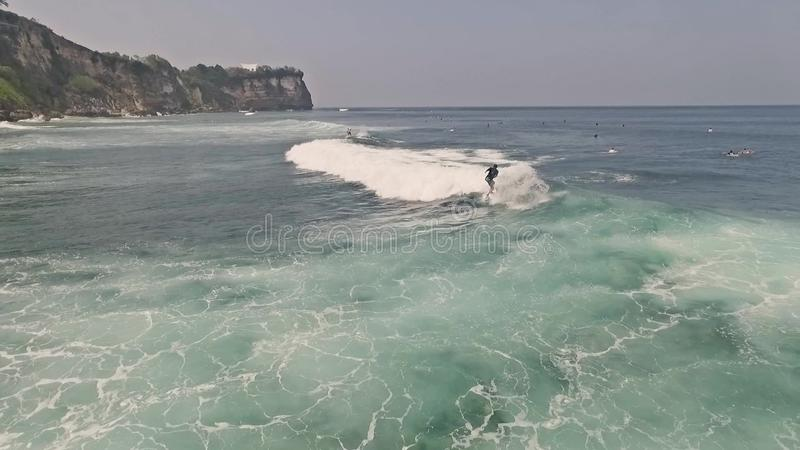 Surfa Uluwatu Bali antennultrarapid stock video