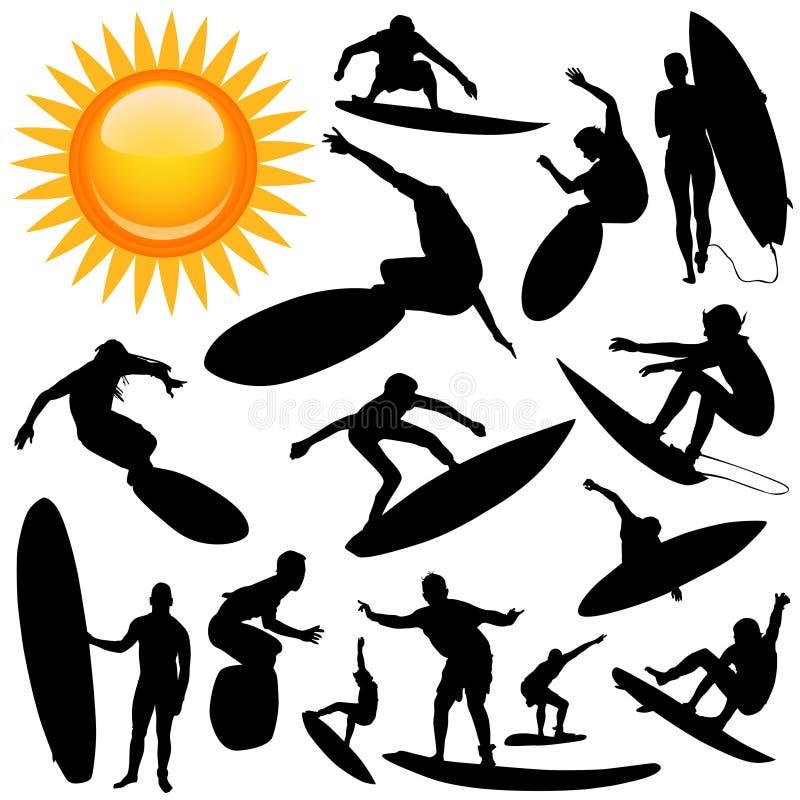 surfa vektor royaltyfri illustrationer