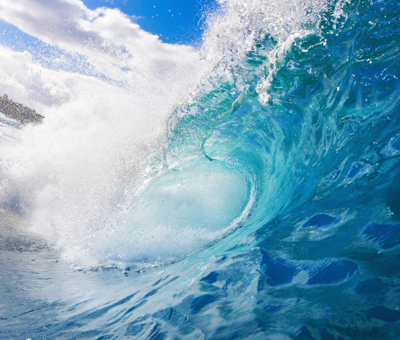 surfa wave royaltyfri fotografi