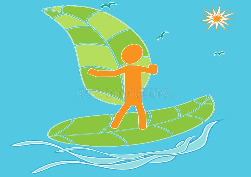 surfa wind för ecoenergi royaltyfri illustrationer