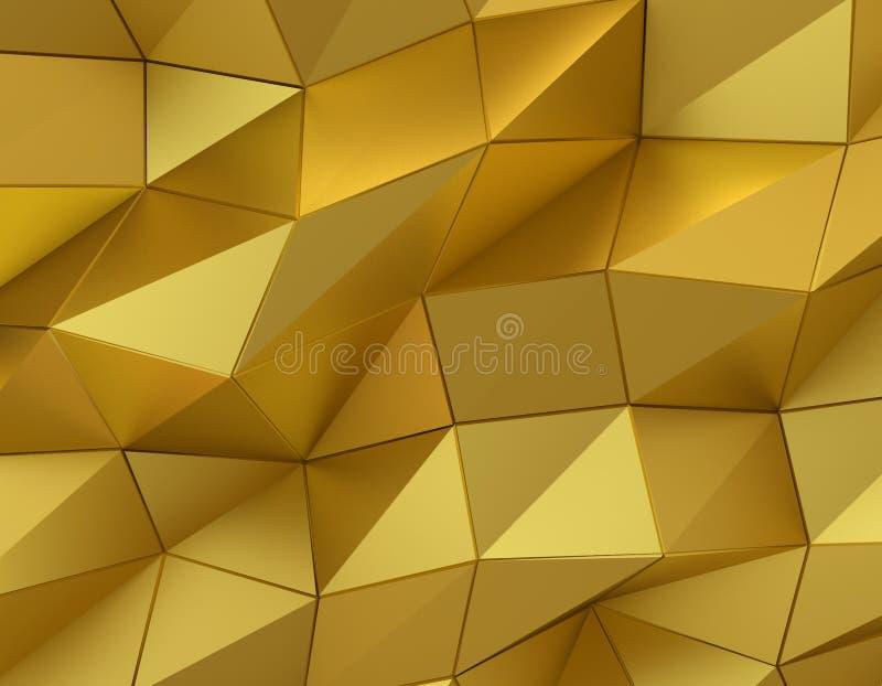 Surface abstraite d'or Fond futuriste illustration libre de droits