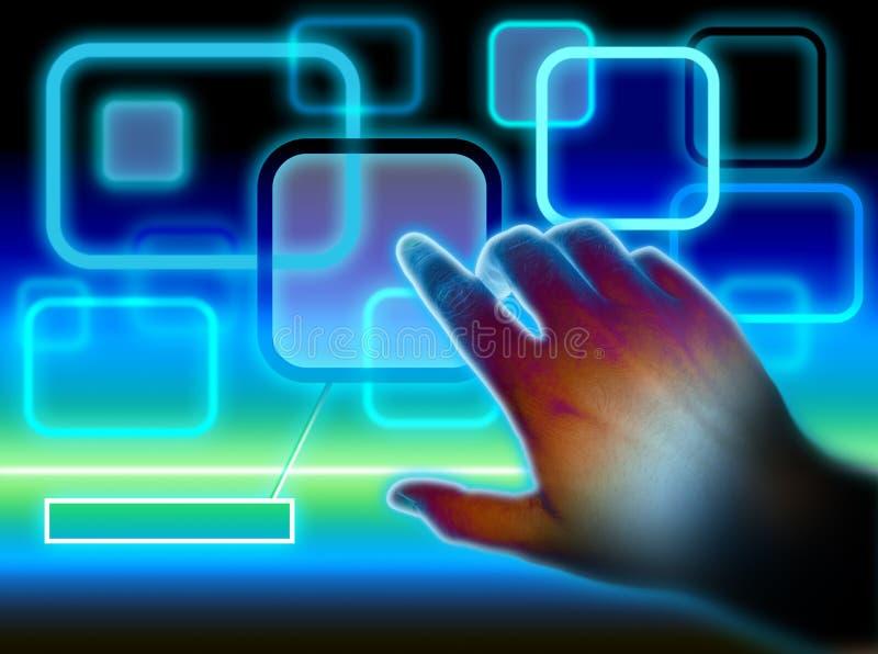 Surface adjacente d'écran tactile photos libres de droits