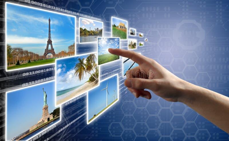 Surface adjacente d'écran tactile images libres de droits