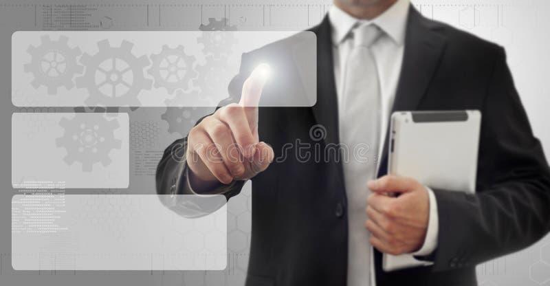 Surface adjacente d'écran tactile photo libre de droits
