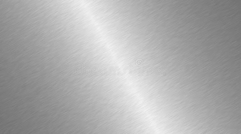 Surface balayée en métal Texture radiale de métal Fond en acier poli par résumé illustration stock