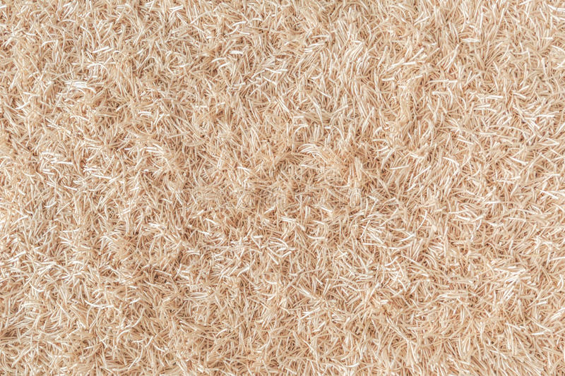 Surface of a beige carpet made of ropes as a background stock photo