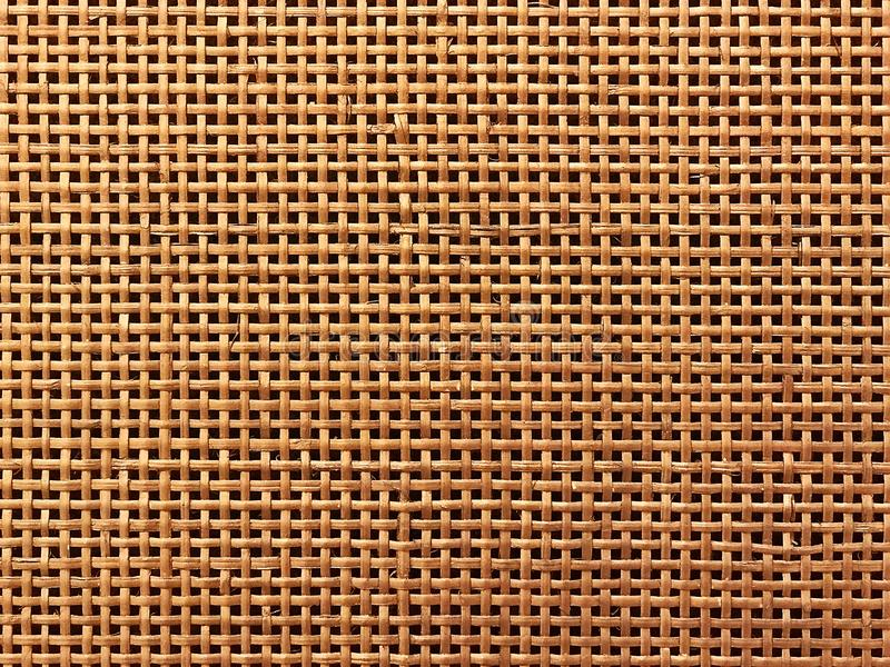 Surface of Brown Wicker texture for background. stock photo