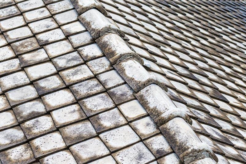 Surface burinée de pierre de toit vieille de l'Asie de ville grise de fond grunge léger de conception de texture de beaucoup de t image libre de droits