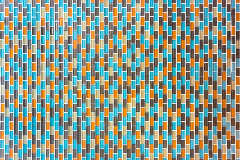 Surface carrelée multicolore photo libre de droits