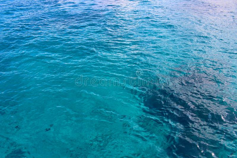 Azure sea water stock images