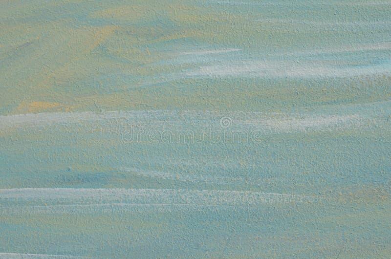 Surface de contreplaqué avec les courses blanches bleues de brosse photos libres de droits