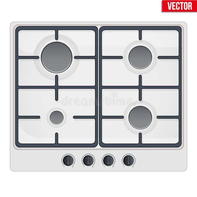 Surface de cuisinière à gaz illustration de vecteur