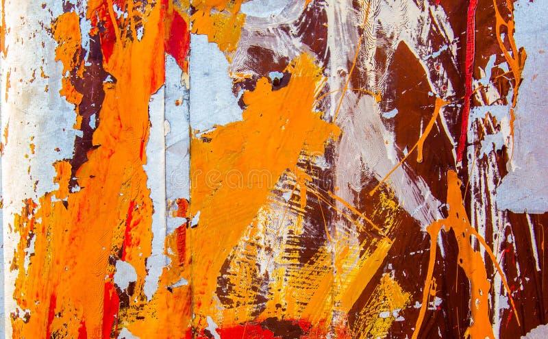 Surface de fer rouillé avec la vieille texture peinte images libres de droits