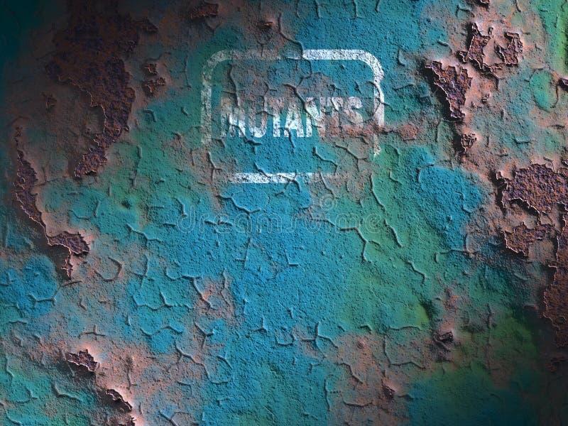 Surface de fer rouill? illustration de vecteur