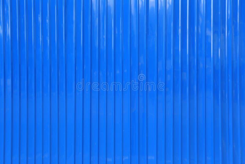 Surface de fond bleu de mur de zinc images stock