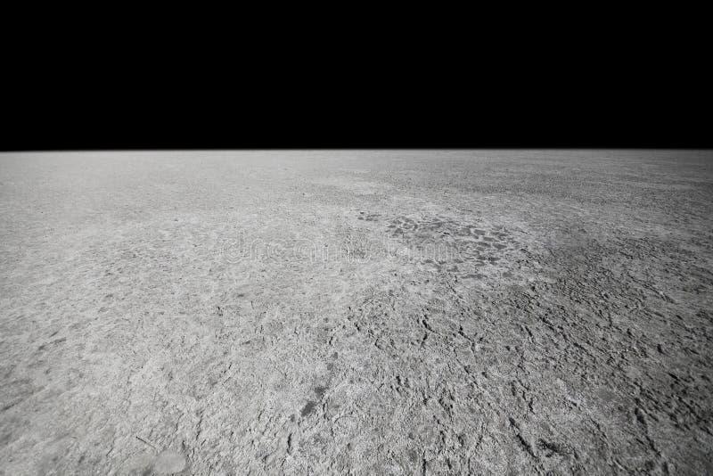 Surface de la lune photographie stock libre de droits