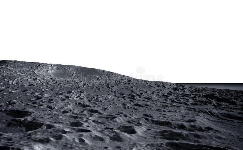Surface de lune La vue de l'espace de la terre de planète isolat rendu 3d image stock
