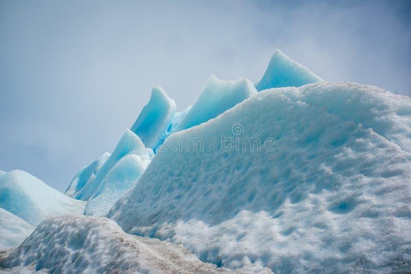 Surface de Milou d'un glacier bleu Shevelev image libre de droits