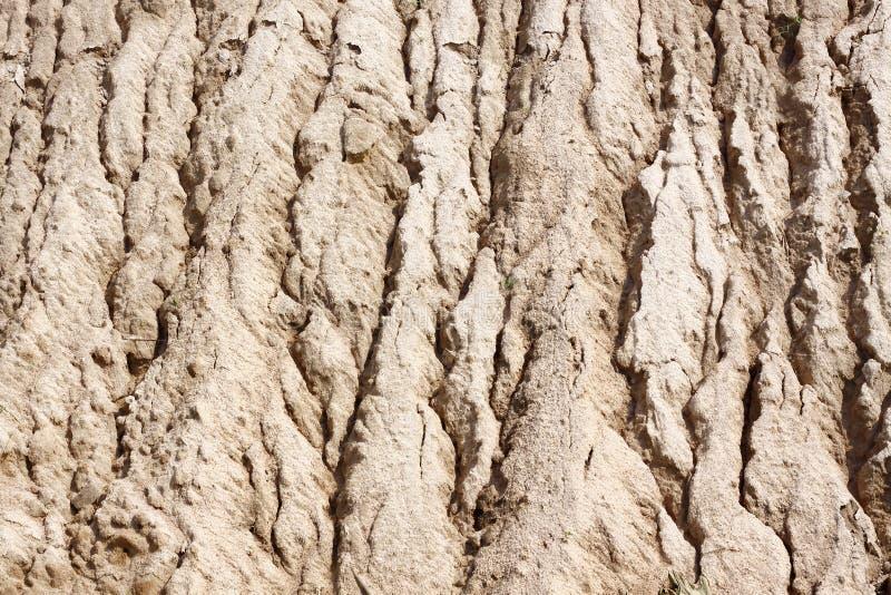 Surface de sable à l'érosion hydrique images libres de droits