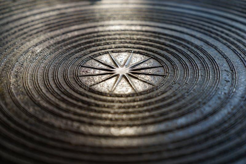 Surface de tambour en bronze magnifique antique, de tambour de grenouille ou de Dr. de pluie photos libres de droits