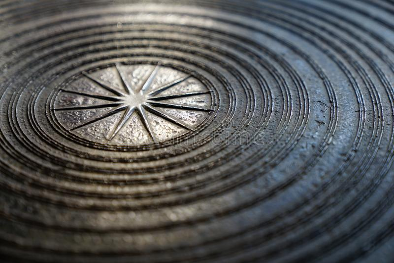 Surface de tambour en bronze magnifique antique, de tambour de grenouille ou de Dr. de pluie photographie stock libre de droits