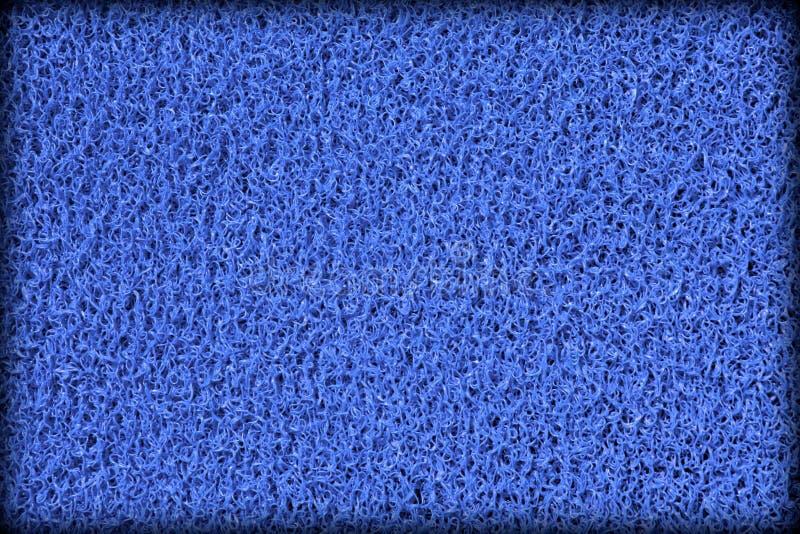 Surface de tapis en caoutchouc bleu de piscine image stock