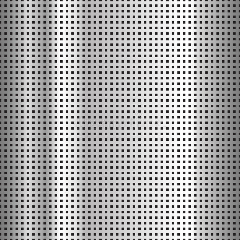 Surface en acier perforée illustration stock