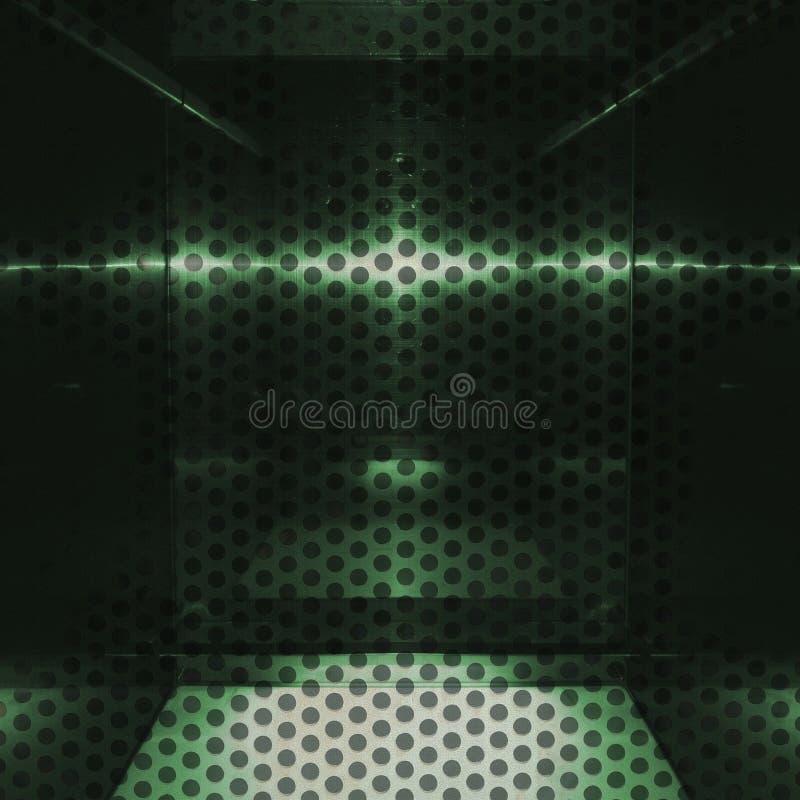 Surface en aluminium verte neutre avec des trous Fond géométrique métallique de texture illustration de vecteur
