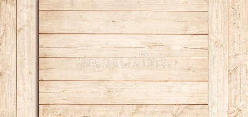 Surface en bois brun clair de planches, de dessus de table ou de plancher Texture en bois photos stock