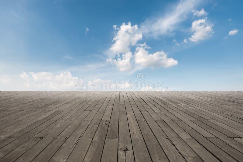 Surface en bois de plancher image libre de droits
