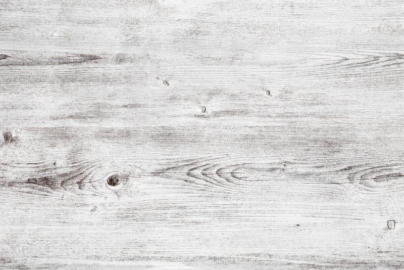 Surface en bois légère de table - fond chic minable en bois blanc photographie stock libre de droits