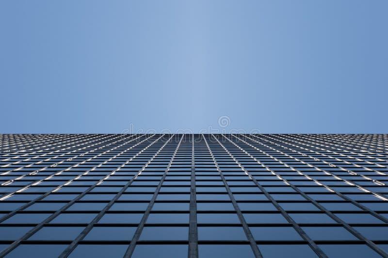 Surface en verre de vue de gratte-ciel images stock