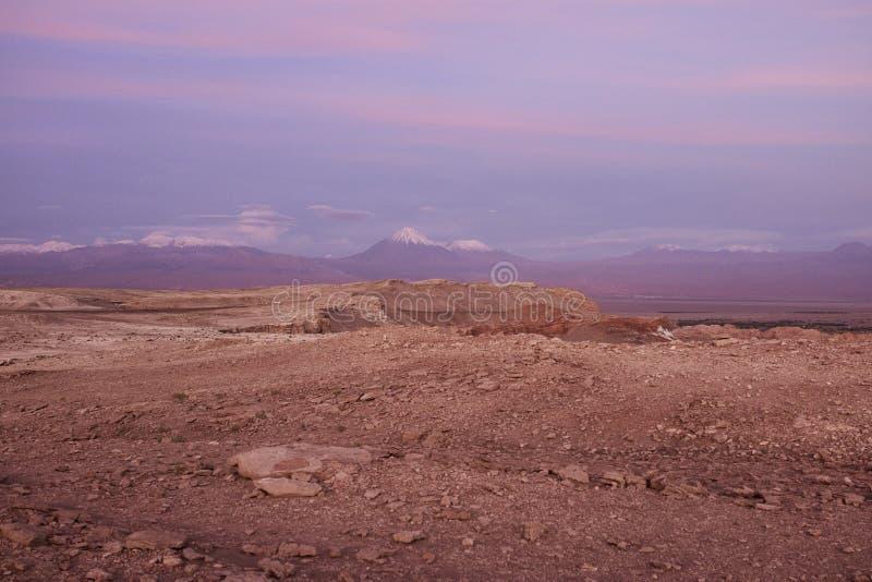 Surface et panorama comme un martien de désert d'Atacama image libre de droits