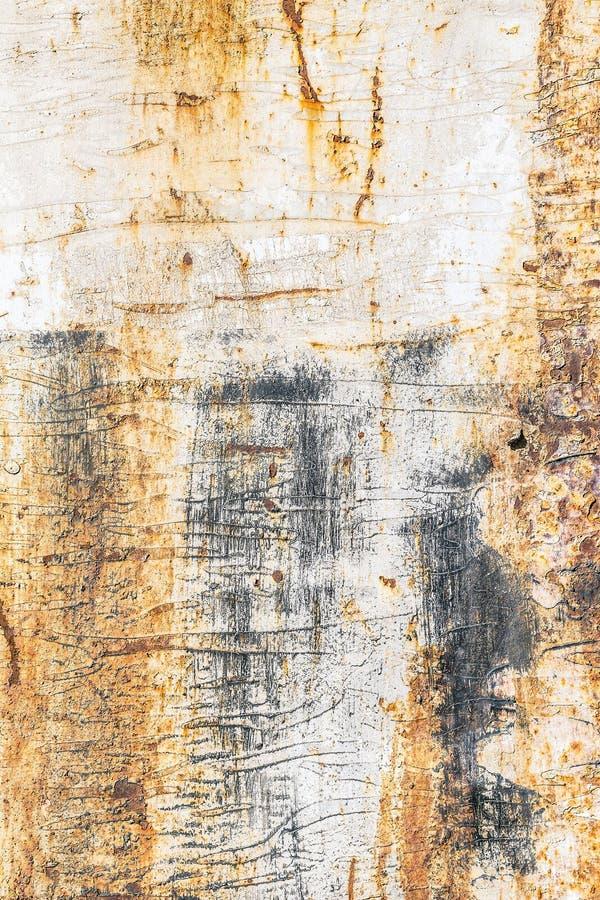 Surface métallique jaune rouillée photos stock