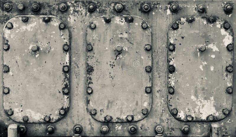 Surface métallique peinte d'outillage industriel avec la patine lourde images libres de droits