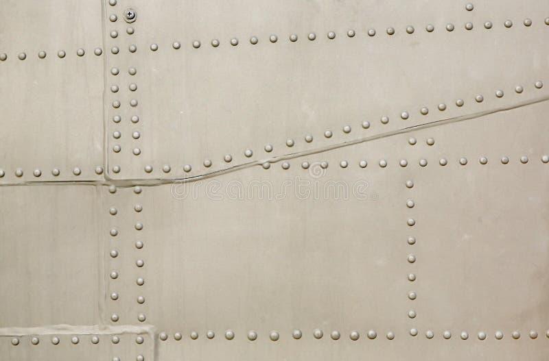 Surface m?tallique des avions militaires images stock