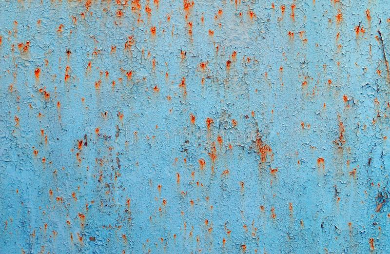Blue rusty metal texture background royalty free stock photo