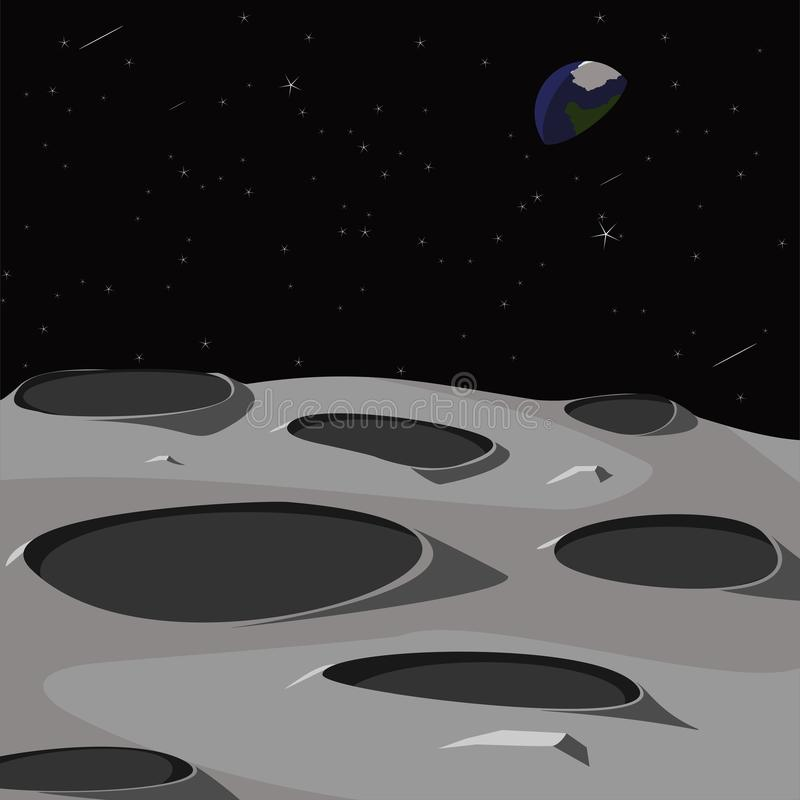 Download Surface Of The Moon Vector Illustration Stock