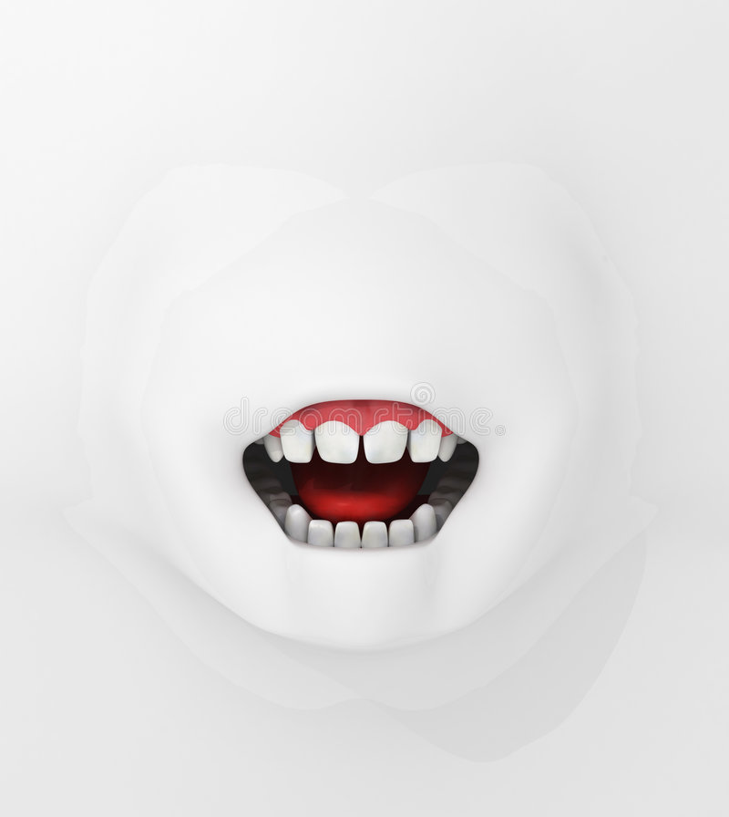 Surface Mouth, Front Royalty Free Stock Images