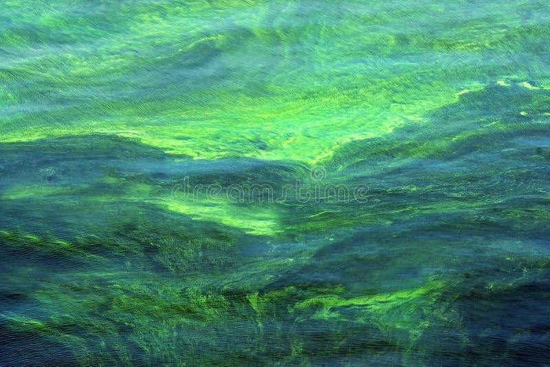 Surface multicolore lumineuse de l'eau image stock