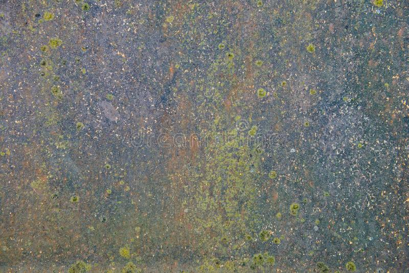 The surface of the old metal sheet with rust stock photo