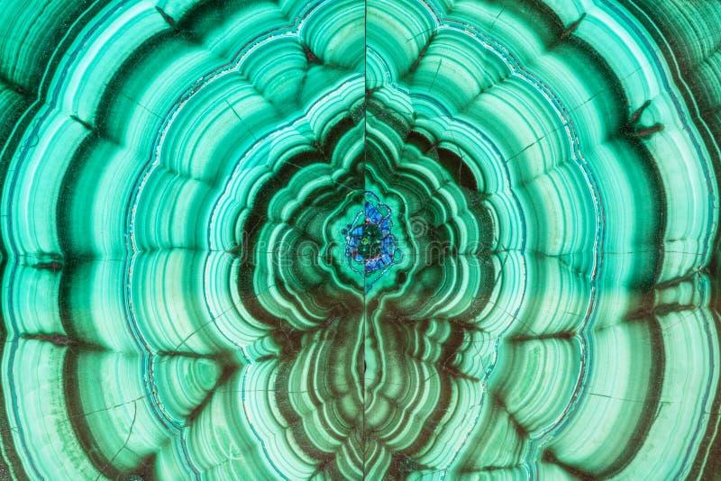 Surface polie de pierre gemme de minerai de malachite photos libres de droits