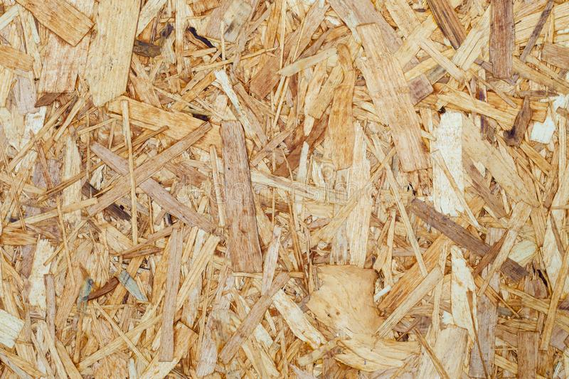 Surface of recycled pressed tree chips. Background, texture stock photo