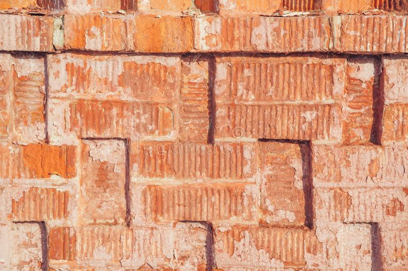 Surface of red brick wall royalty free stock photos